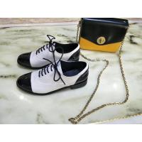 Buy cheap Fashion leather shoes white and black patchwork low heel lace-up women dress shoes comfortable shoes free shipping from wholesalers
