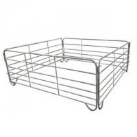 Buy cheap Galvanized Livestock Metal Fence Panels Used Corral Horse Fence Panels from wholesalers
