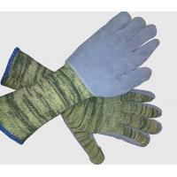 Buy cheap 10gauge kntting kevlar glove sewing cow leather palm from wholesalers