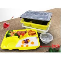 Buy cheap Fancy Disposable Plastic Lunch Boxes , Plastic Catering Trays With Lids And Lock from wholesalers