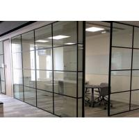 Buy cheap ISO Modern Half Height Glass Cubicle Dividers  , Boss Office Partition Wall from wholesalers