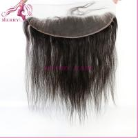Buy cheap large stock top quality bleached knots with baby hair straight lace frontal 13*4 from wholesalers