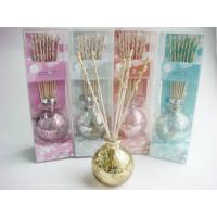 Buy cheap Round Glass Lavender Fragrance Oil Reed Diffuser Set With Lid Homechic from wholesalers