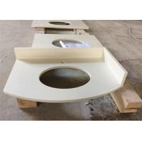 Buy cheap White Polished Special-shaped Artificial  Quartz StoneVanity Tops Acid Resistance from wholesalers