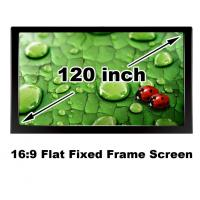Buy cheap Best Quality 120 Inch 16:9 Home Cinema Theater Projection Screen Flat Fixed Frame DIY from wholesalers