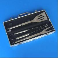 Buy cheap 3 PCS BBQ tools in a aluminium box from wholesalers