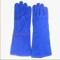 Buy cheap Welding Gloves, Available in Blue Color from wholesalers