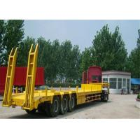 Buy cheap 3 axles 60T lowbed Lowboy  loader drop deck truck  low bed semi trailer from wholesalers