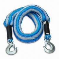 Buy cheap Metal Clip Hooks Elasticized Towing Rope, Available with Maximum Weight of 2,500kg from wholesalers