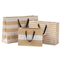 Buy cheap 250gsm Brown Paper Shopping Bags , Commercial Paper Bags Clear Crease from wholesalers