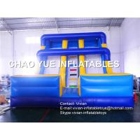 Buy cheap Fireproof PVC Tarpaulin Inflatable Slide Double Lane Outdoor Inflatable Slide from wholesalers