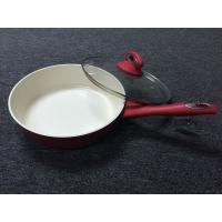 Buy cheap Warp resistant /red color deep fry pan ceramic coating /outer heat resistant painting/made of forged aluminum from wholesalers