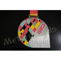 Buy cheap BJJ Logo Zinc Allaoy Custom Sports Medals With Sublimated Ribbon Die Cast  Process from wholesalers