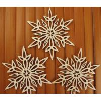Buy cheap Christmas Ornaments Wooden Snowflake plywood hanging ornaments from wholesalers