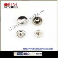 Buy cheap Brass snap 10MM button cap with #488 buttom part HVB Nickle fashion metal button from wholesalers