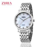 Buy cheap Fashionable Silver Round Mens Stainless Steel Watches , Mesh Band Gift Quartz Gents Wrist Watch from wholesalers