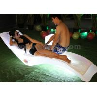 Plastic LED Chaise Lounge Chair Beach Lounge Chair with Colorful Lighting Decoration