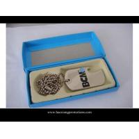 Buy cheap custom wholesale shape cheap blank engraved metal lovers dog tags from wholesalers