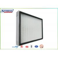 Buy cheap H13 H14 Mini Pleat Panel Hepa Air Filters For Central Air Conditioning from wholesalers