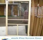 Buy cheap stock closeout stocklot surplus overstock Pine Screen Door from wholesalers