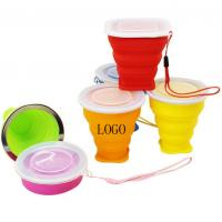 Buy cheap Stainless steel circle silicone folding expansion cup outdoor portable mouth 9*8*4.5cm from wholesalers