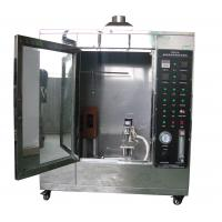 Buy cheap Conveyor Vertical Fire Testing Machine / Flammability Test Chamber ISO340 from wholesalers