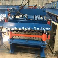 Buy cheap Double Deck Tile Roofing Sheet Corrugated Roll Forming Machine Hydraulic Motor Control from wholesalers