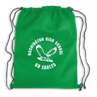 Buy cheap Gold printed black small promotional gift drawstring bag from wholesalers