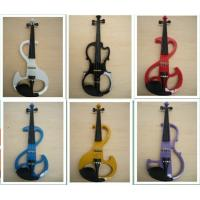 Buy cheap White / Black Silent 4/4 Solid Wood Electric Violins With Ebonized Fingerboard from wholesalers