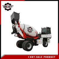 China 4.5 Cubic Meters Mobile Concrete Mixer Truck , Portable Cement Mixer With Self Feeding on sale
