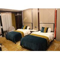 Buy cheap Hotel Style Bedroom Furniture Double Bed , High Standard Modern Queen Bedroom Sets from wholesalers