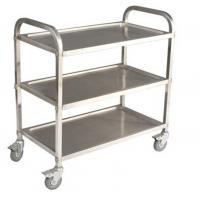Buy cheap Commercial 3 Tier Stainless Steel Serving Cart With Castors / Handle from wholesalers