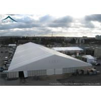 Buy cheap Durable White Warehouse Tents Aluminium Structure Pvc Fabric Glass Walls from wholesalers