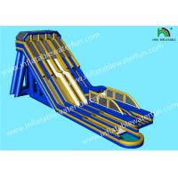 Buy cheap Multiple Lanes Single Ladder Height 15m Giant Inflatable Slide from wholesalers