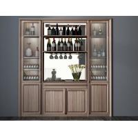 Buy cheap Custom Public aera Furniture Walnut wood Built in Wall Wine Display Cooler and Hall Concierge cabinet product