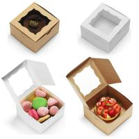 Buy cheap Bakery Cake Take Away Box , Food Packaging Boxes With Clear Viewing Window from wholesalers