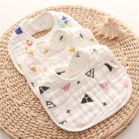 China Dyed Premium Muslin Newborn Baby Bibs Absorbent Existing Pattern Eco Friendly on sale