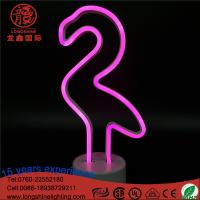 Buy cheap LED 12.6 battery operated pink Flamingo Neon Desk Table lamps Night Light for bed room decoration from wholesalers