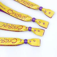 Buy cheap Yellow Pink Color Decorative Custom Wrist Band For Business Gift from wholesalers
