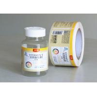 Buy cheap Private Tablet Pill Strong Adhesive Labels , Sticker Labels For Bottles from wholesalers