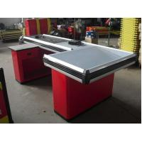 Buy cheap Supermarket Grocery Store Checkout Counter /  Steel Cash Register With Conveyor Belt from wholesalers