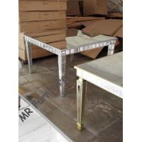 Buy cheap Square Mirrored Dining Table For Rent 39 Inches Solid Painting Wood Legs from wholesalers