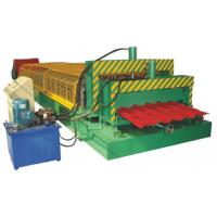 Buy cheap 5.5KW High Speed Double Deck Roll Forming Machine With Automatic Hydraulic Cutting product