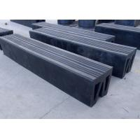 Durable W Type Marine Boat Bumpers , Tug Boats Rubber Dock Guard Eco Friendly