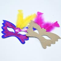 Buy cheap Women Festival Party Decorations Paper Handicraft Masks 350gsm CCNB Material from wholesalers