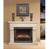 Buy cheap Energy Efficient Imitation Marble Fireplace Heater , Villa Vintage Electric Fireplace from wholesalers