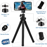 Buy cheap Phone Tripod Flexible Tripod for iPhone Camera with Wireless Remote and Universal Phone Mount, 360° Rotating Mini Tripod from wholesalers
