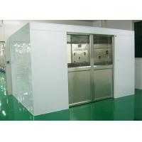 Buy cheap Industry Cleanroom Air Shower System Tunnel With Width 1800 Automatic Sliding Doors from wholesalers