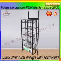 Buy cheap Pos metal floor gravity feed display stand metal display stand from wholesalers