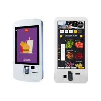 Buy cheap Restaurant Smart Digital Signage Kiosk , Payment Lcd Digital Signage With Printer And Scanner from wholesalers